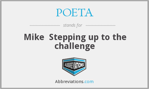 What does POETA stand for?