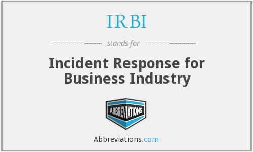 IRBI - Incident Response for Business Industry