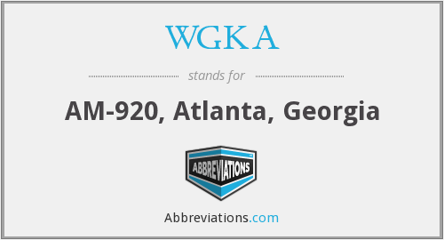 WGKA - AM-920, Atlanta, Georgia