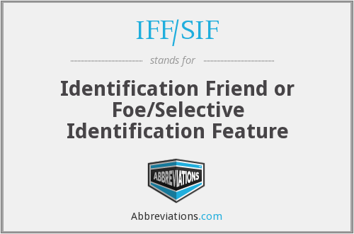 IFF/SIF - Identification Friend or Foe/Selective Identification Feature