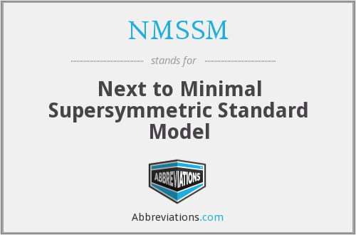 What does NMSSM stand for?