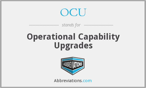 OCU - Operational Capability Upgrades