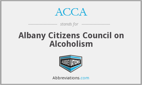 ACCA - Albany Citizens Council on Alcoholism