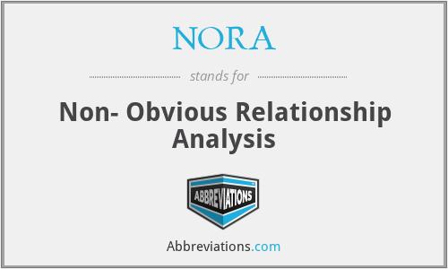NORA - Non- Obvious Relationship Analysis