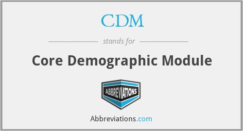 CDM - Completely Deaf Moron