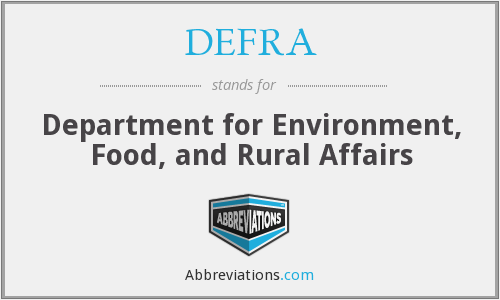 What does DEFRA stand for?
