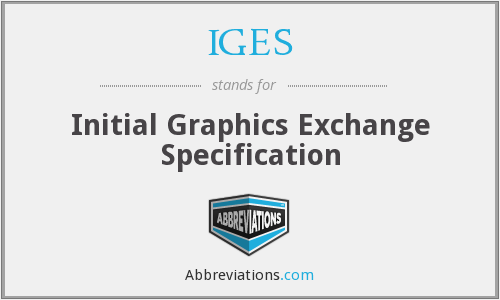 What does .IGES stand for?
