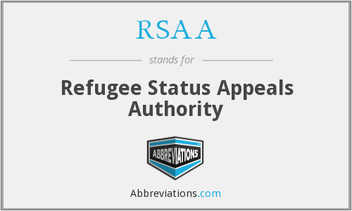 RSAA - Refugee Status Appeals Authority