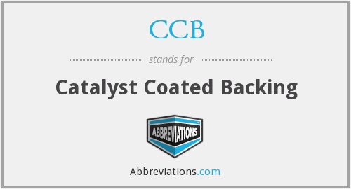 CCB - Catalyst Coated Backing