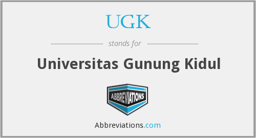 UGK - Universitas Gunung Kidul