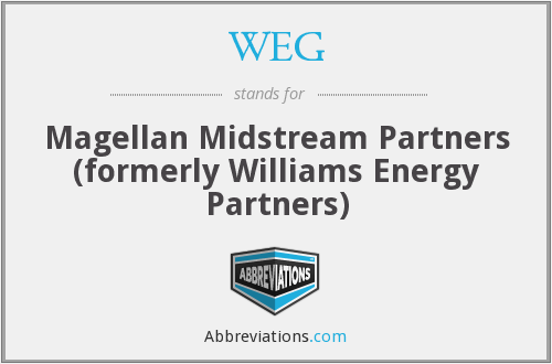 WEG - Magellan Midstream Partners (formerly Williams Energy Partners)