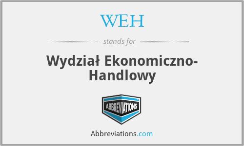 WEH - Wydział Ekonomiczno- Handlowy