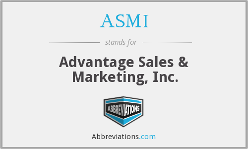 ASMI - Advantage Sales & Marketing, Inc.