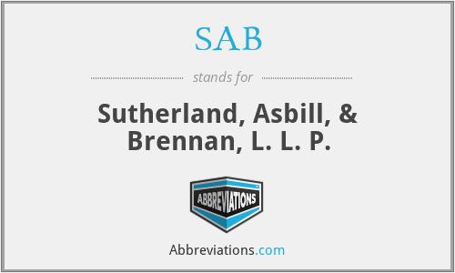 SAB - Sutherland, Asbill, & Brennan, L. L. P.