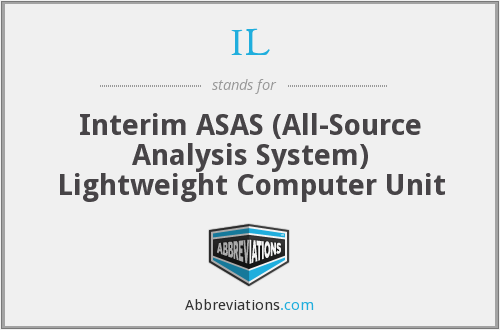 IL - Interim ASAS (All-Source Analysis System) Lightweight Computer Unit