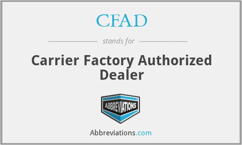 CFAD - Carrier Factory Authorized Dealer