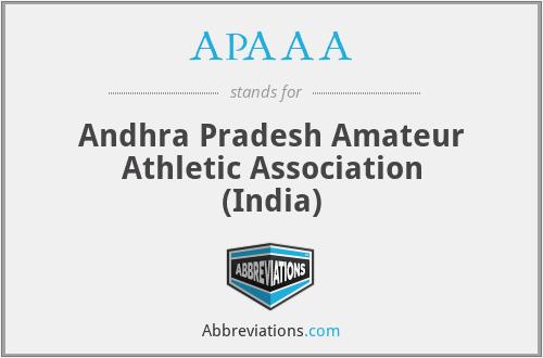 APAAA - Andhra Pradesh Amateur Athletic Association (India)