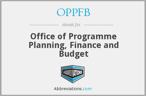 OPPFB - Office of Programme Planning, Finance and Budget
