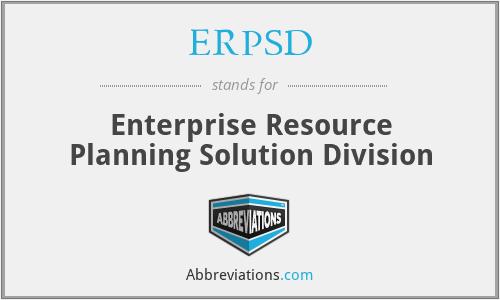 ERPSD - Enterprise Resource Planning Solution Division