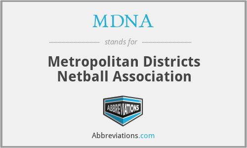 MDNA - Metropolitan Districts Netball Association
