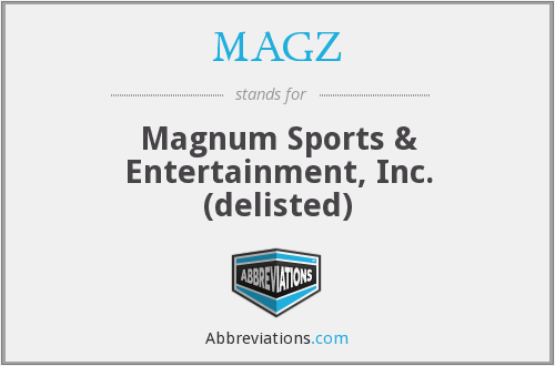 What does MAGZ stand for?
