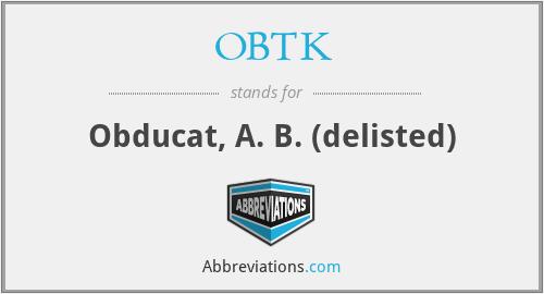 OBTK - Obducat, A. B. (delisted)