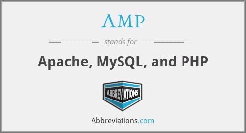 AMP - Apache, MySQL, and PHP