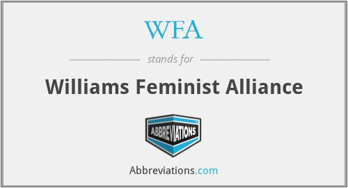 WFA - Williams Feminist Alliance