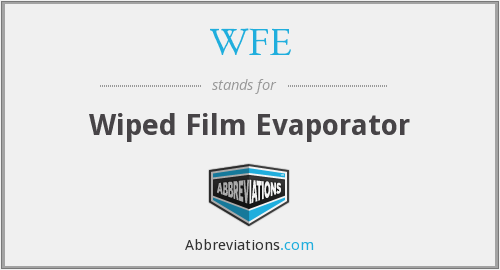 WFE - Wiped Film Evaporator