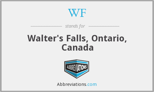 WF - Walter's Falls, Ontario, Canada