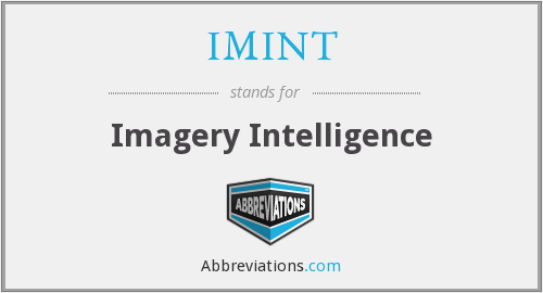 What does IMINT stand for?