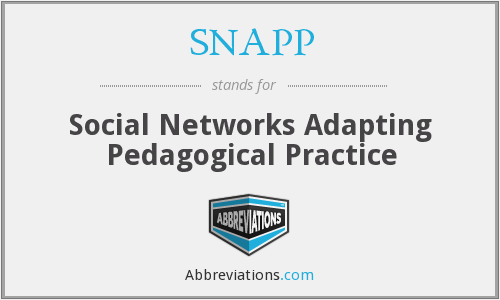 SNAPP - Social Networks Adapting Pedagogical Practice