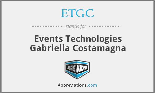 ETGC - Events Technologies Gabriella Costamagna