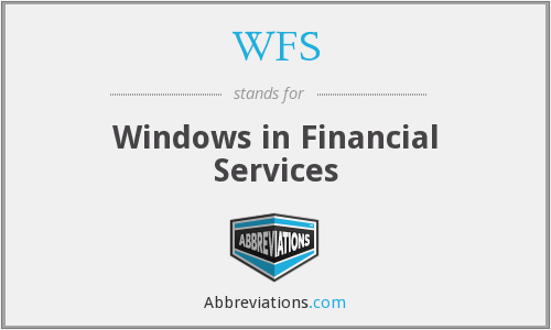 WFS - Windows in Financial Services