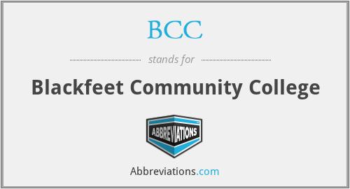 BCC - Blackfeet Community College