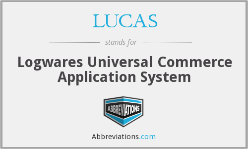 LUCAS - Logwares Universal Commerce Application System