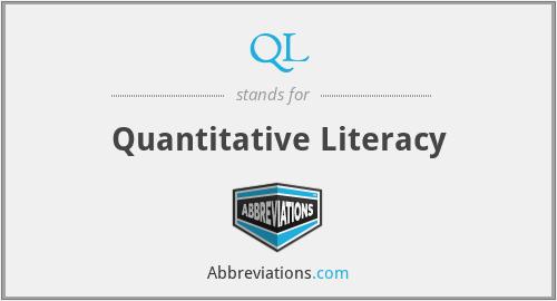 QL - Quantitative Literacy