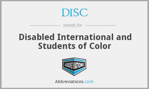 DISC - Disabled International and Students of Color