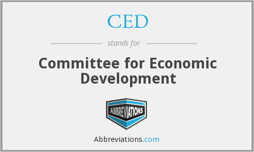 CED - Committee for Economic Development