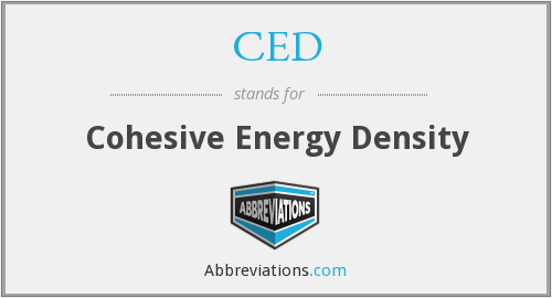 CED - Cohesive Energy Density