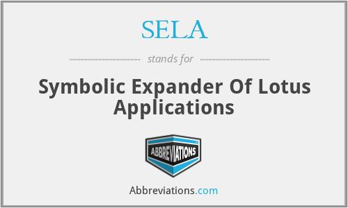 SELA - Symbolic Expander Of Lotus Applications