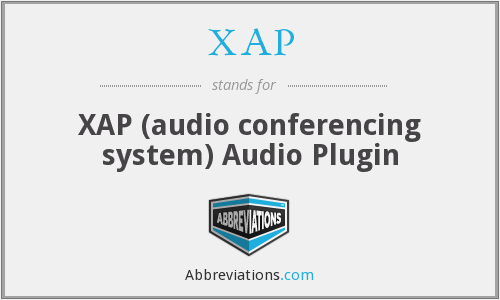 XAP - XAP (audio conferencing system) Audio Plugin