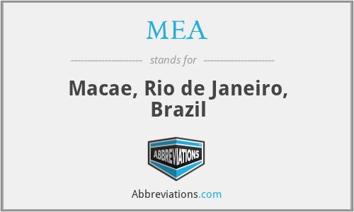 MEA - Macae, Rio de Janeiro, Brazil