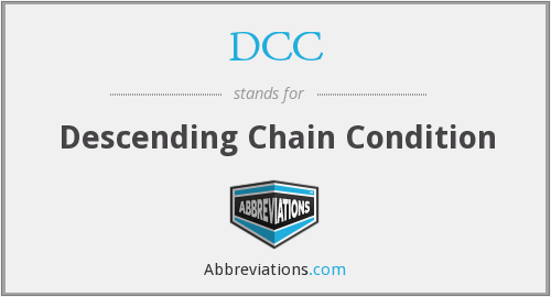 DCC - Descending Chain Condition