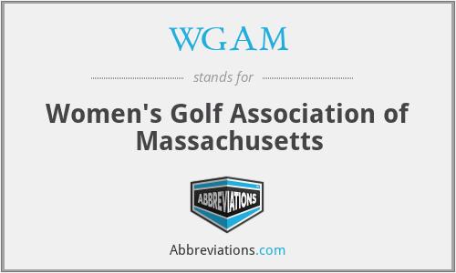 WGAM - Women's Golf Association of Massachusetts