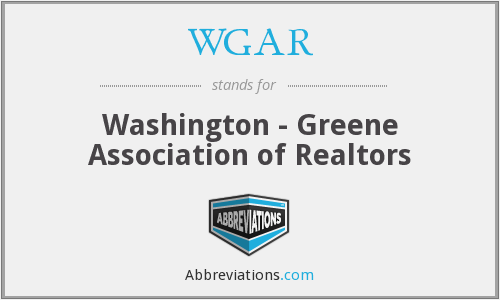 WGAR - Washington - Greene Association of Realtors