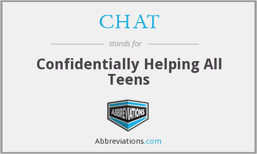CHAT - Confidentially Helping All Teens