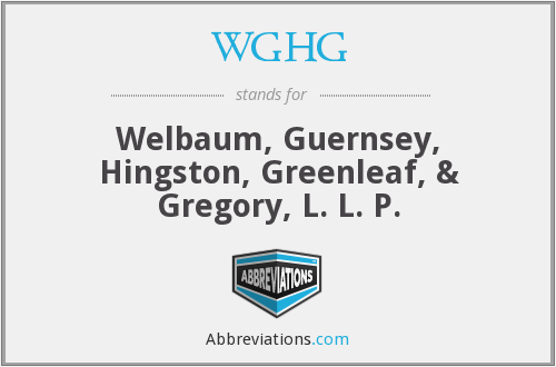 WGHG - Welbaum, Guernsey, Hingston, Greenleaf, & Gregory, L. L. P.