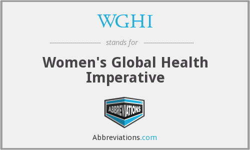 WGHI - Women's Global Health Imperative