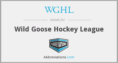 WGHL - Wild Goose Hockey League